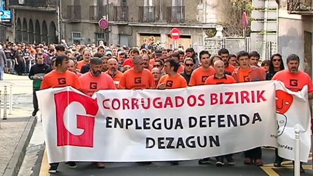 Una de las protestas hechas por los trabajadores de la empresa. Foto: EiTB