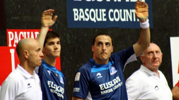 Irujo y Zabaleta, los campeones del Parejas 2013. EiTB.
