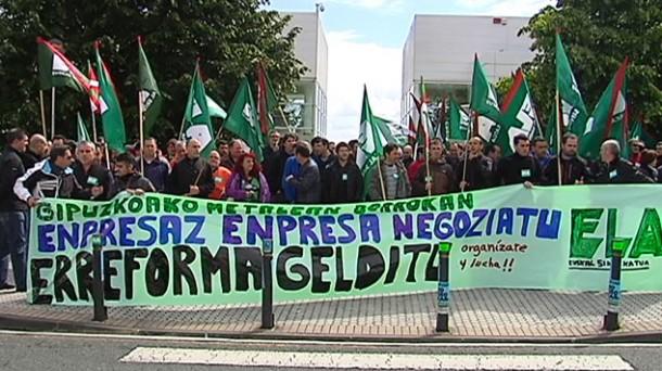 Manifestación de ELA en Gipuzkoa en una foto de archivo. Foto: EITB.