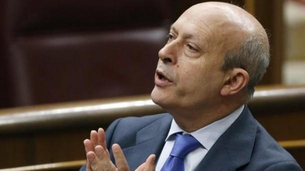 Jose Ignacio Wert Hezkuntza ministroa, LOMCE Legearen 'aita'. Argazkia: EFE