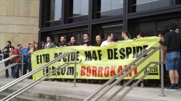 Comienzan las protestas contra el ERE que afecta a 31 trabajadores de eitb.com. Foto: eitb.com
