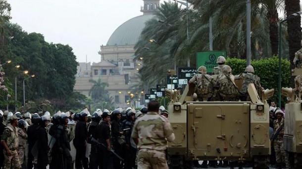 Los militares dieron un golpe de Estado en Egipto para deponer al entonces presidente Mursi. EFE.