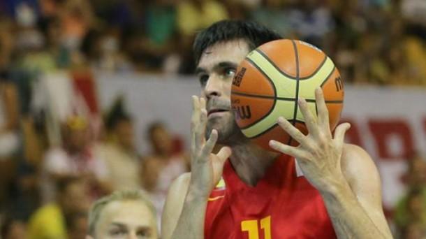 San Emeterio, jugador de la selección española. Foto: EFE