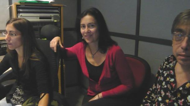Olaia Sánchez, Carmen San Esteban y Kike Loyola