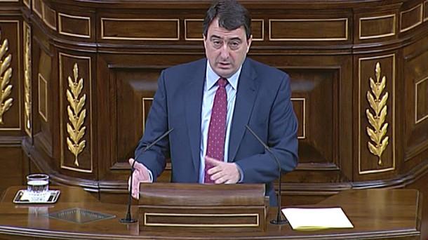 El portavoz del PNV en el Congreso de los Diputados, Aitor Esteban. Foto: EiTB