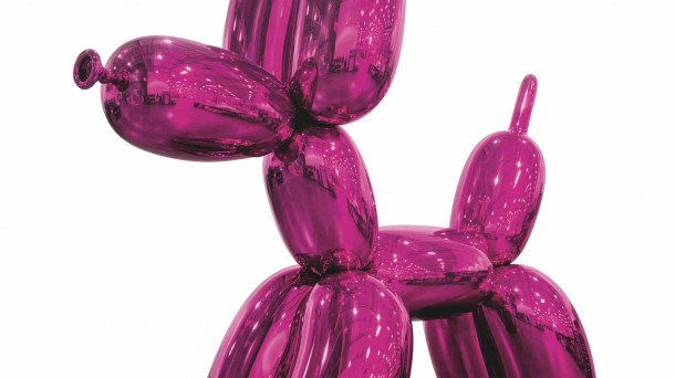 Perro globo (magenta). Jeff Koons.