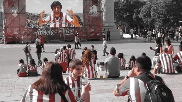Barcelona, en rojiblanco