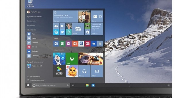 Una vista de Windows 10
