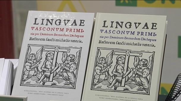 'Linguae Vasconum Primitiae' es uno de los libros que se podrán leer