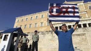 Grezia Atenas manifestazioa efe