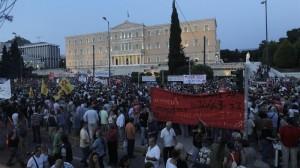 Grezia manifestazioa Syntagma plazan Atenas efe