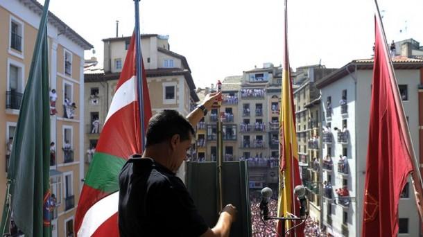 Txupinazo en Pamplona. EFE