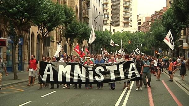 Una manifestación convocada por ATA en Bilbao. EiTB