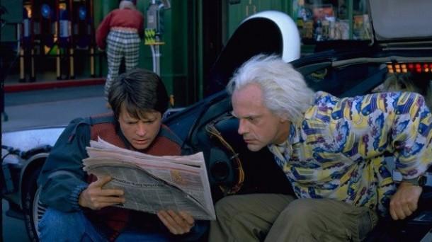 Marty McFly y Doc en 'Regreso al Futuro II'. Foto: Universal Studios