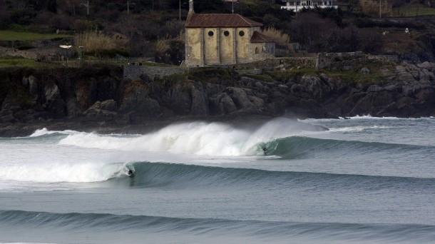 La famosa ola de Mundaka