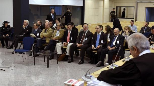 Acusados en la Audiencia Nacional. Foto: Efe