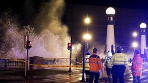 El temporal provoca daños en la costa vasca
