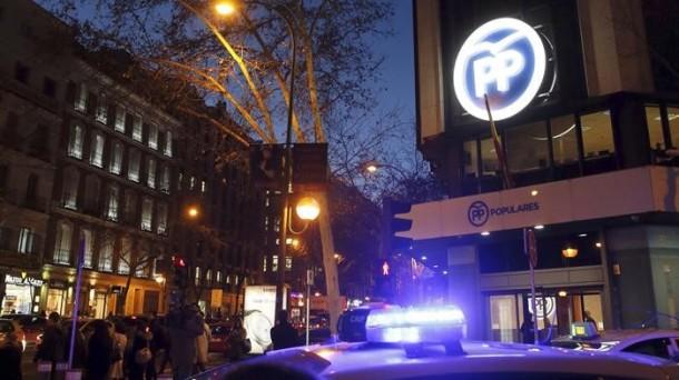 La sede del Partido Popular en la calle Génova. EFE