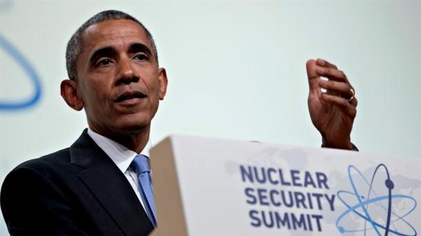Barack Obama durante su conferencia en la cumbre nuclear de Washington. Foto: EFE