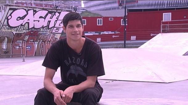 El patinador bilbaíno Aritz Ortega. Foto: EiTB