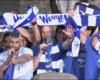 Afición y equipo celebran el ascenso en la Virgen Blanca