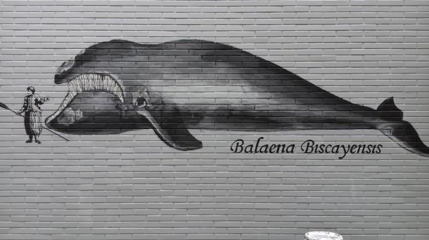 Una de las partes que componen el mural. Foto: Luis Olaso