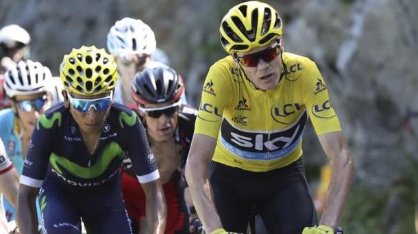 Froome y Quintana, en el pasado Tour de Francia. Foto: Efe.