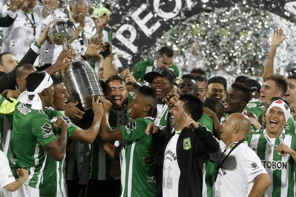 28 JULIO | Jugadores del Atlético Nacional de Colombia, campeones de la Copa Libertadores