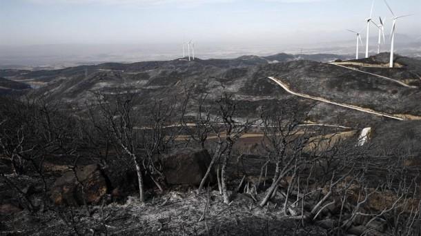 Incendio en Navarra. Foto: EFE