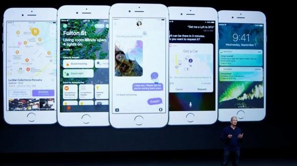 Presentación del iPhone 7. Foto: Efe