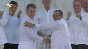Gobierno y FARC sellan el acuerdo de paz de Colombia