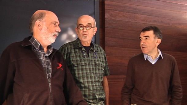 Pako Etxeberria, Eneko Etxeberria (hermano de Naparra) e Iñigo Iruin, hoy.