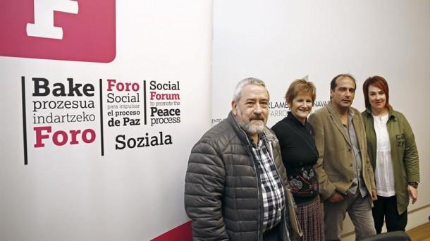 Los miembros del Foro Social. Foto: EFE