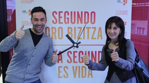 Mari Sol Díaz y Juan Jaureguizar (Asoc. Parkinson ACAPK). Foto: EiTB.