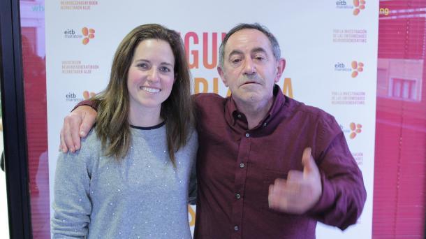 María López de Eguilaz y Xabier Saldias. Foto: EiTB.