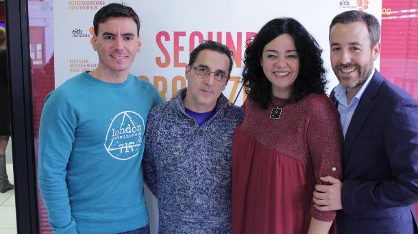 Ander Vilariño, Javier Vizcaíno, Gurutze Beitia y Pedro Carrascal. Foto: EiTB.