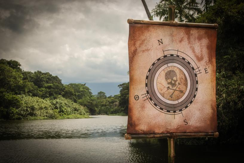 Estandarte de 'El Conquistador del Caribe'