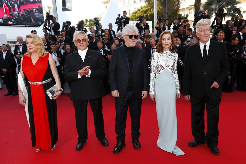 Catherine Deneuve, George Miller, Pedro Almodovar, Isabelle Huppert eta David Lynch. Argazkia: EFE.