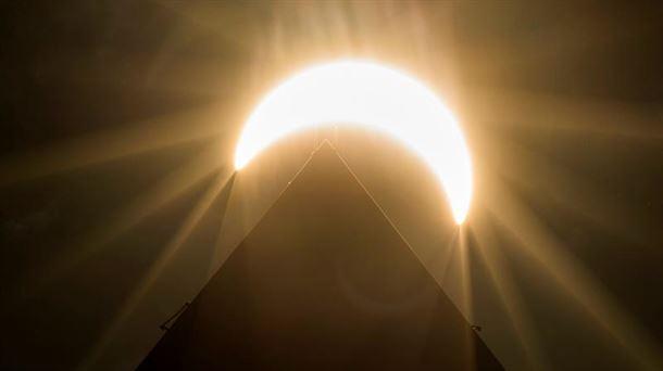 El eclipse, en EE. UU. Foto: EFE