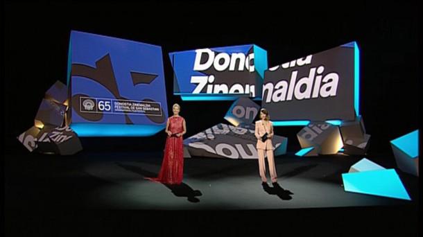 Resultado de imagen de inauguracion zinemaldi 2017