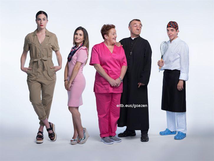 Erika, Desi, Begoña, Zuzen eta Martin