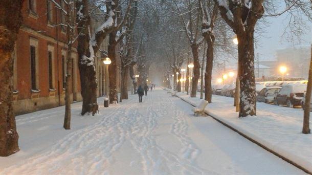 Nieve en Vitoria-Gasteiz, Foto: Eitb