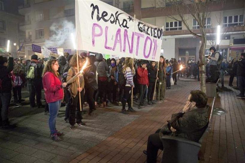 Manifestación en Vitoria-Gasteiz. Foto: EFE