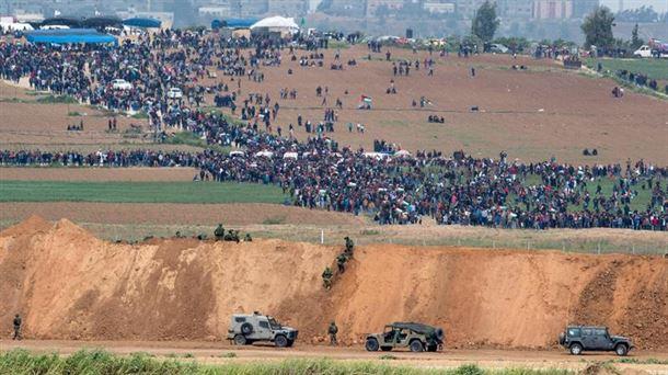 Incidentes en Gaza. Foto: EFE.