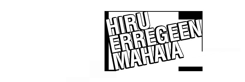 HIRU ERREGEEN MAHAIA : Kirol guztiak asteburu eta jaiegunetako kirol magazinean.